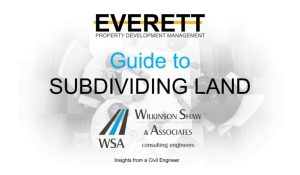 Guide to subdividing land